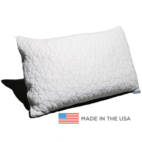 Adjustable Shredded Memory Foam Pillow with Removable Bamboo-derived Viscose Rayon and Polyester Blend Cover