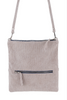A FOLD OVER CROSSBODY DOVE GREY