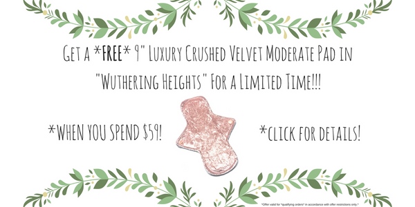 "GET A FREE 9"" NOVEL RED LUXURY CRUSHED VELVEY PAD WITH YOUR ORDER OF $59 OR MORE WHILE SUPPLIES LAST!"