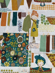 Limited Availability Custom Order Quilter's Cotton - Featuring Flower Snaps and Teal Backing