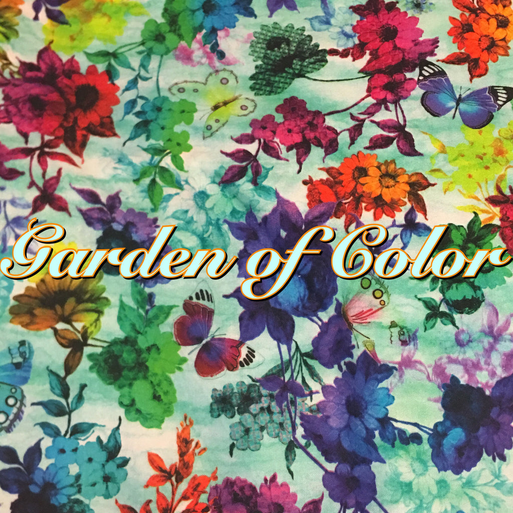 ALL TIME FAVORITE BACK IN LIMITED QUANTITY! - Garden of Color - Quilter's Cotton