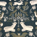Limited Edition Forest Magic - Quilter's Cotton Featuring Ivory Windpro Back and Flower Top Snap