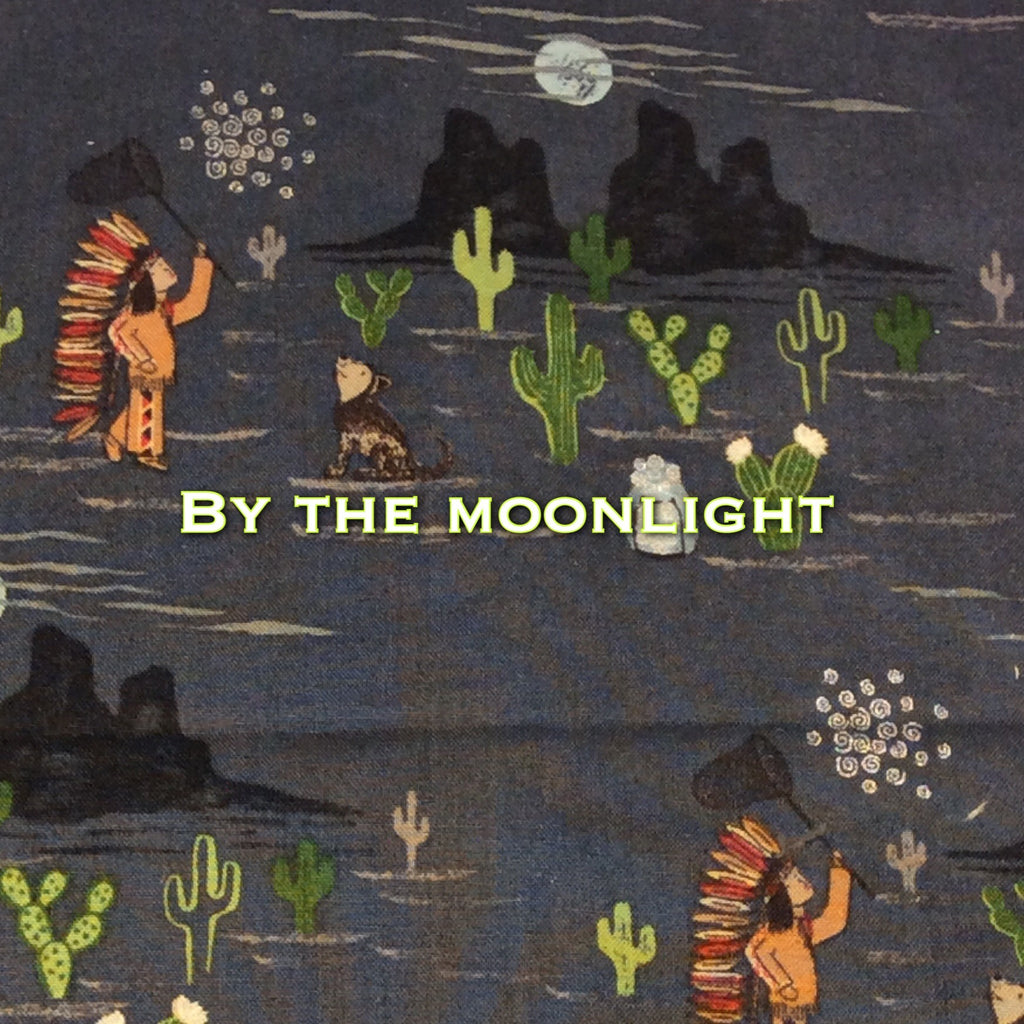 Limited Edition By the Moonlight - Quilter's Cotton Featuring Black Windpro Back and Glow in the Dark Snaps