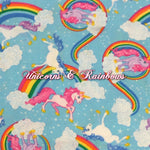 Unicorns & Rainbows - Quilter's Cotton