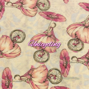 Limited Edition Unicycling - Quilter's Cotton Featuring Ivory Windpro Back and Flower Top Snap