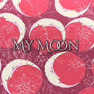 Limited Edition! My Moon - Quilter's Cotton - Featuring Ivory Back & Ivory Flower Top Snap!