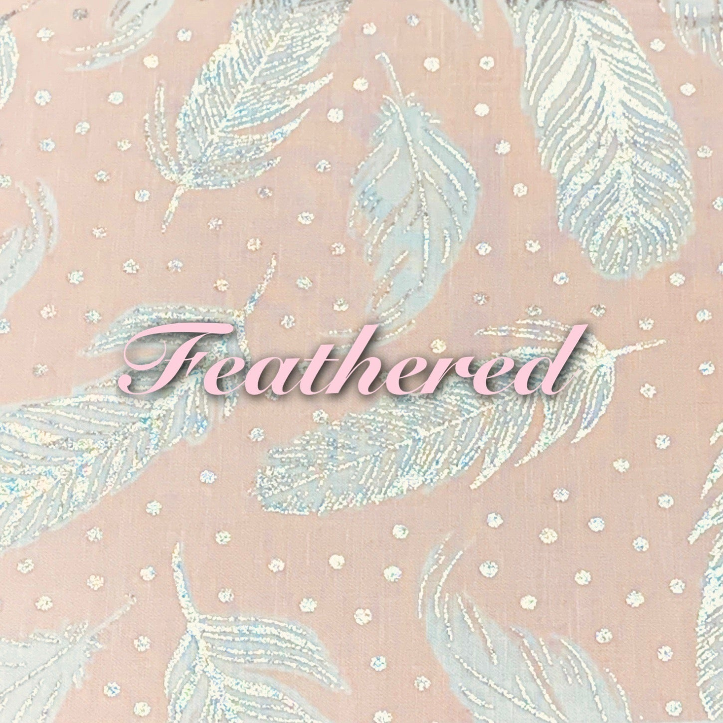 Limited Edition! Feathered - Quilter's Cotton - Featuring Ivory Back,  Metallic Silver Accents & Snaps!