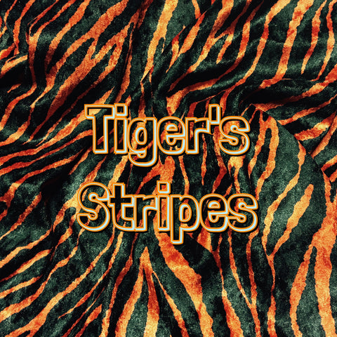 Custom Order - Luxury Crushed Velvet - Tiger's Stripes