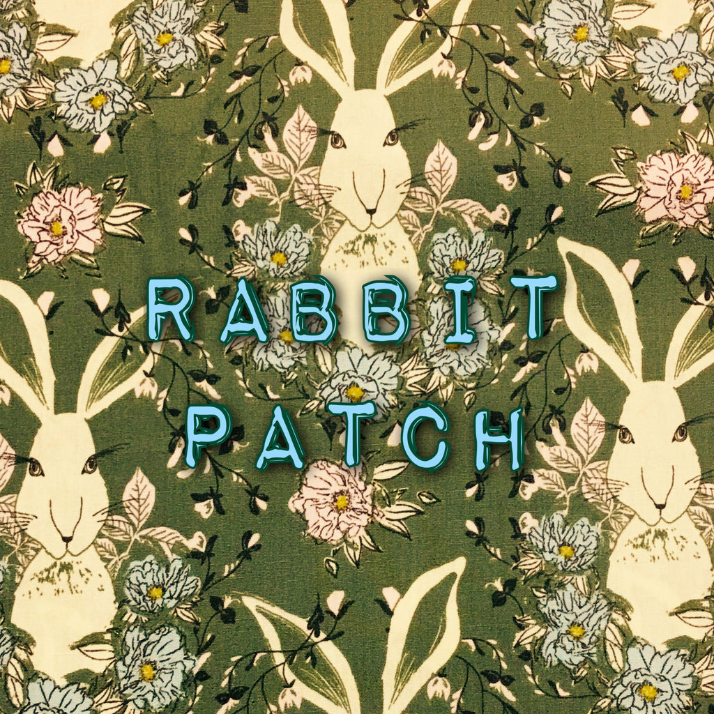 Rabbit Patch - Quilter's Cotton Featuring Ivory Flower Snaps!