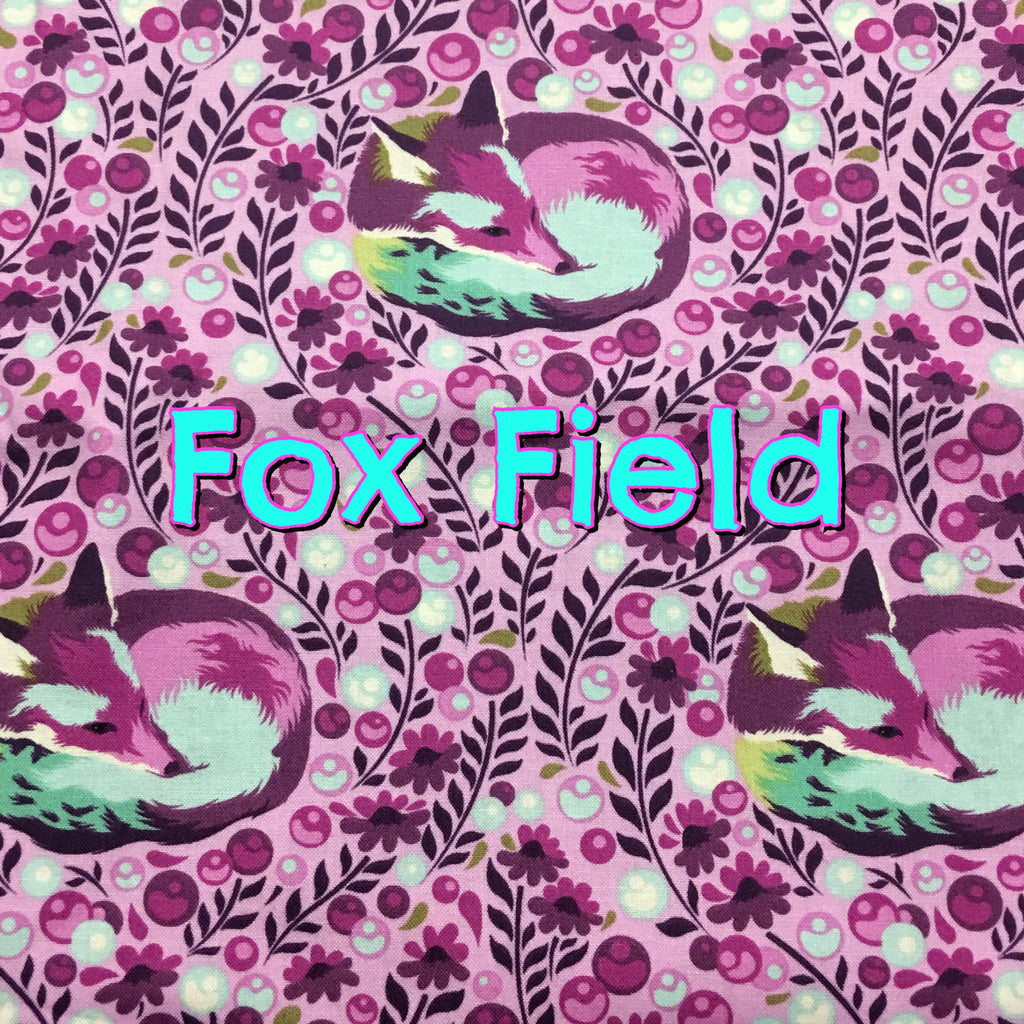Fox Field - Quilter's Cotton Featuring Violet Flower Snaps!