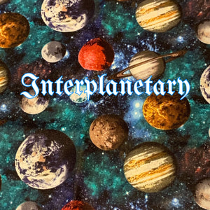 Limited Edition! Interplanetary - Quilter's Cotton - Featuring Teal Windpro Back & Glow in the Dark Snaps!