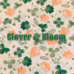 Limited Edition! Clover & Bloom - Quilter's Cotton - Featuring Ivory Windpro Back & White Flower Top Snap!