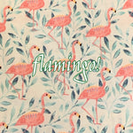 Limited Edition! Flamingo! - Quilter's Cotton - Featuring Ivory Premium Fleece Back & White Flower Top Snap!