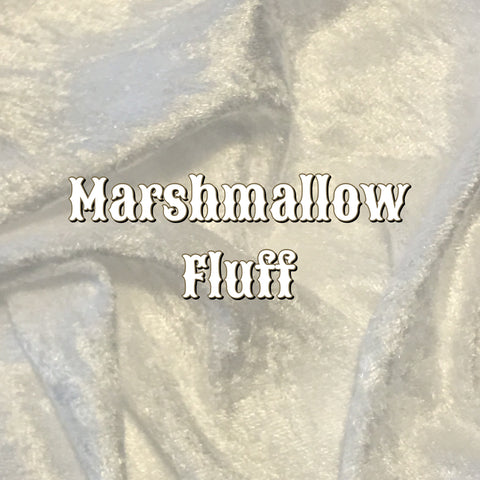 Marshmallow Fluff - Luxury Crushed Velvet