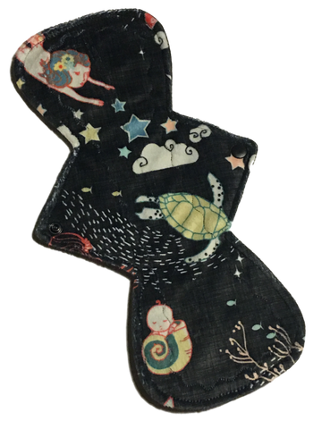13 Inch Curve NINJA (moderate-heavy) Absorbency Minky Topped Pad in Sisters of the Sea