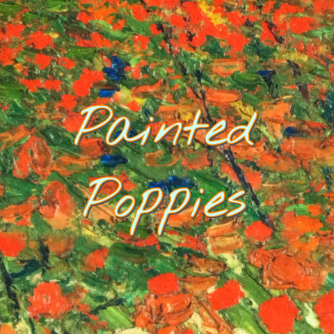 Custom Order - Painted Poppies - Specialty Minky Print