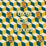 Foxes on Boxes - Quilter's Cotton With Metallic Accents