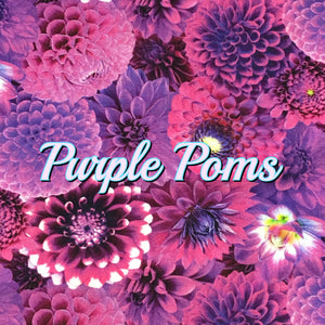 Purple Poms - Quilter's Cotton