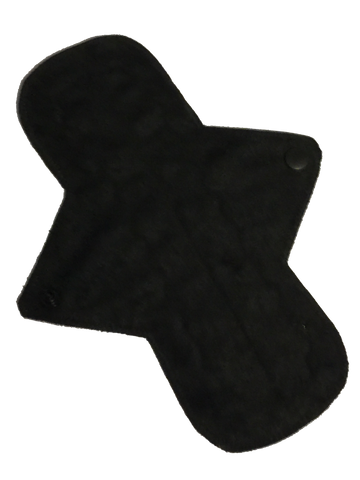 9 Inch Ultra Thin Suedecloth NINJA Pad (moderate-heavy) Absorbency in NINJA Black