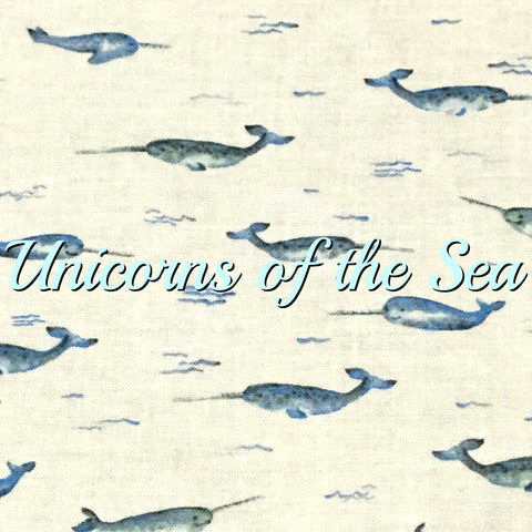 Custom Order - Unicorns of the Sea - Quilter's Cotton