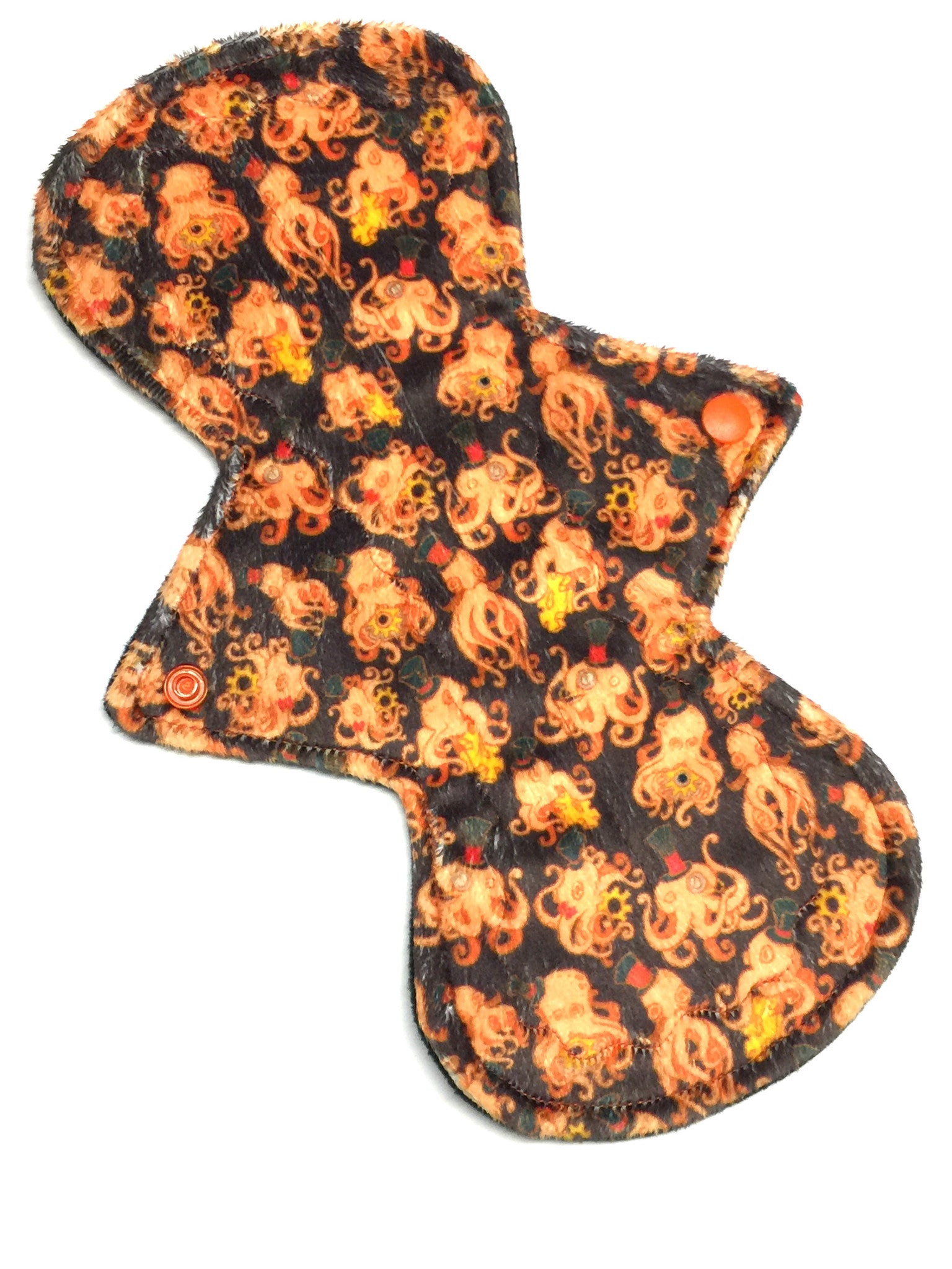 11 Inch Curve Style NINJA (moderate-heavy) Absorbency Specialty Print Minky Topped Pad in Steampunk Octopus