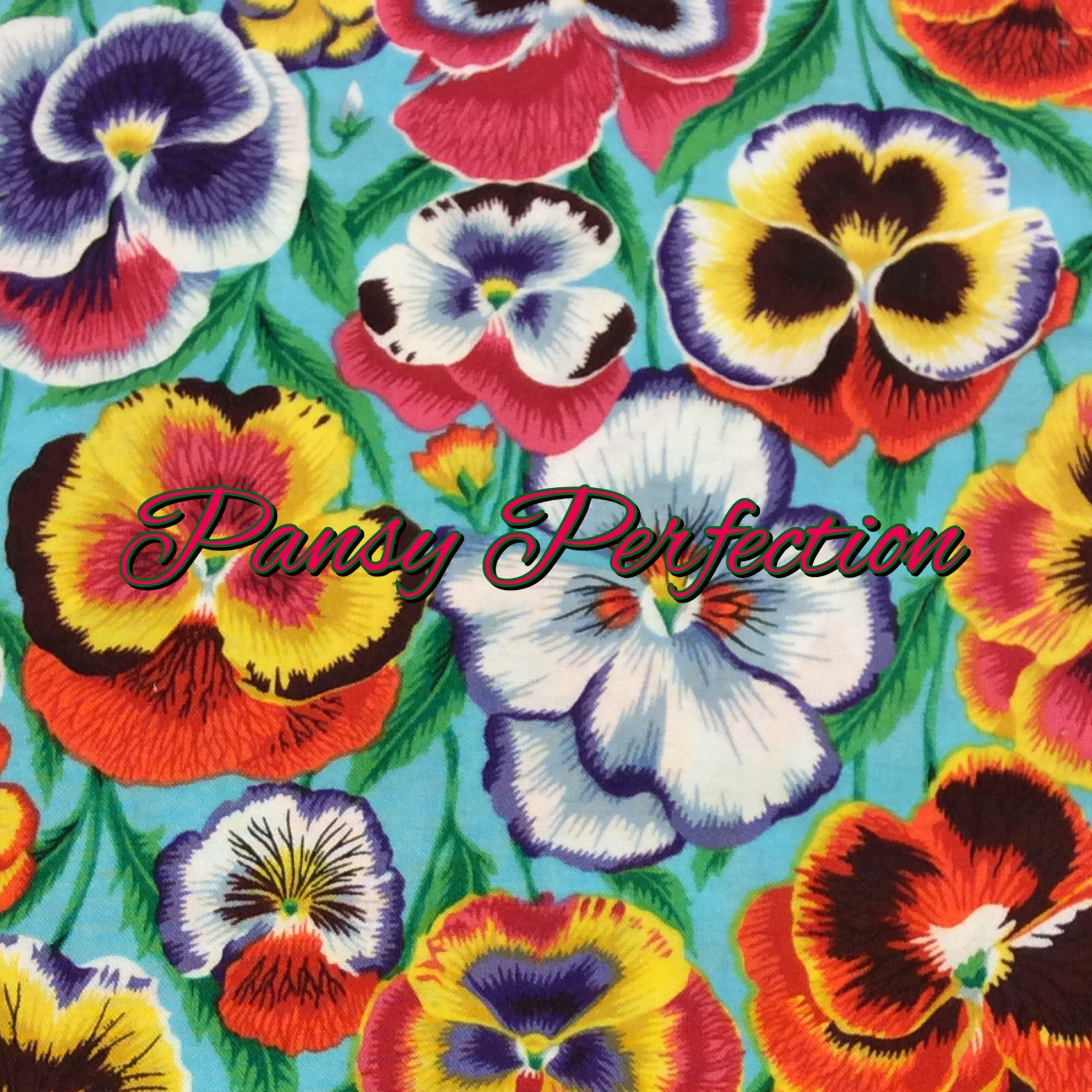 Pansy Perfection - Quilter's Cotton