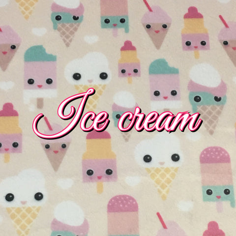 Custom Order - BRAND NEW PRINT! Specialty Minky - Ice Cream