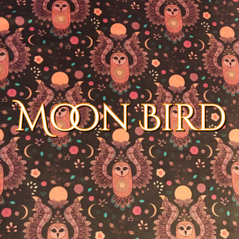 Custom Order - BRAND NEW PRINT! Specialty Minky - Moon Bird