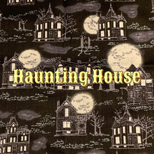 Haunting House - Quilter's Cotton Featuring Glow in the Dark Snaps!