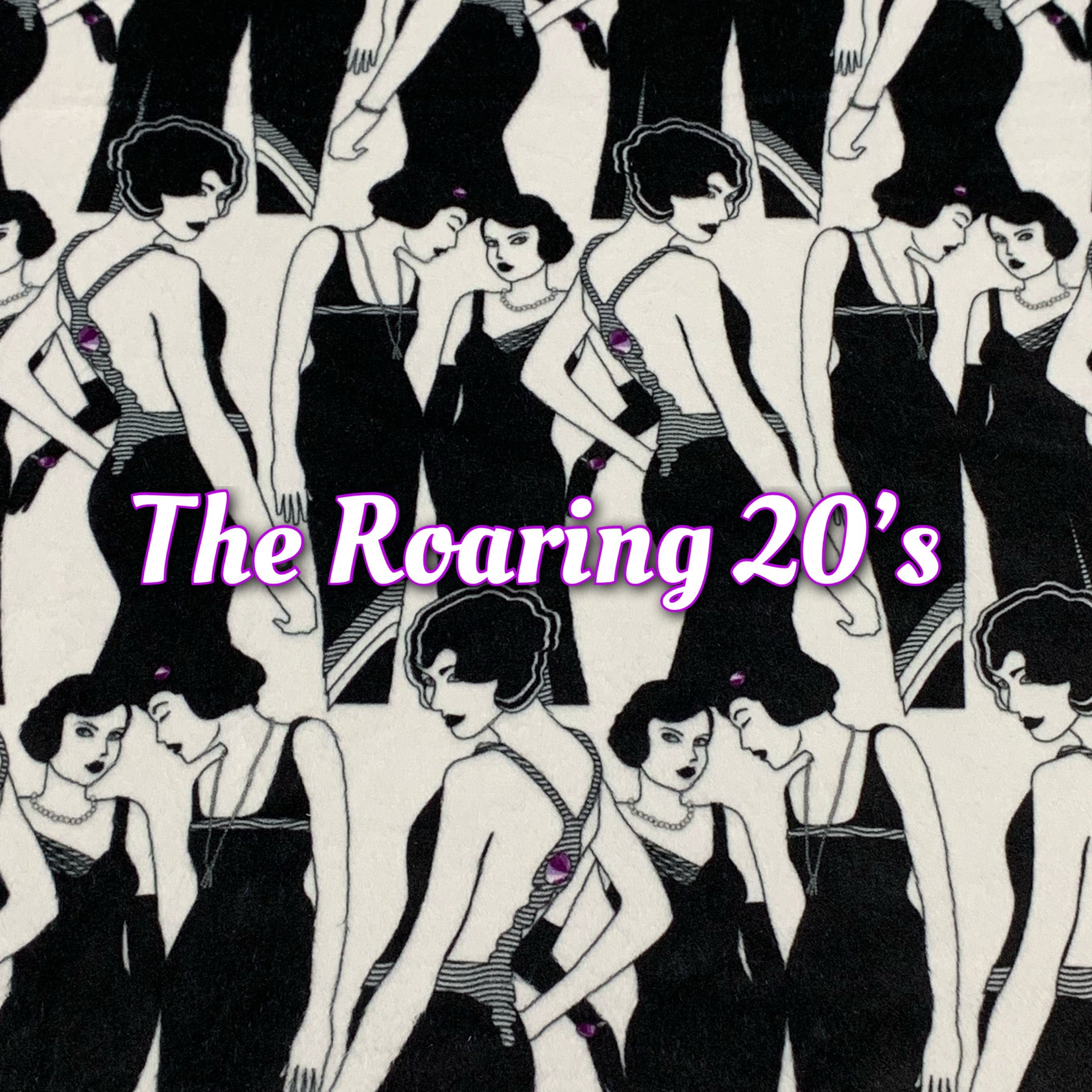 Limited Edition! Roaring 20's - Specialty Minky Print - Featuring Ivory Windpro Back and Bright Violet Heart Top Snap