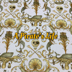 Pirate's Life - Specialty Minky Print - Featuring Metallic Gold Snaps!