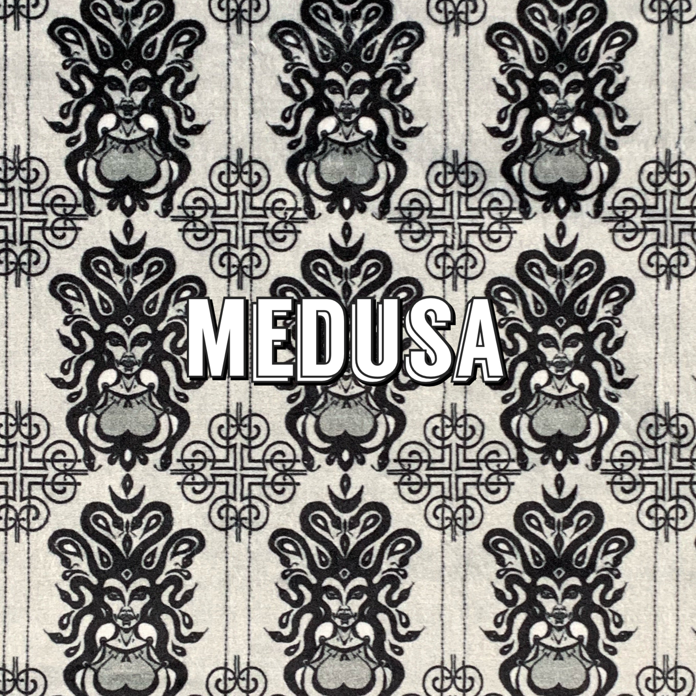 Medusa - Specialty Minky Print - Featuring Black Heart Top Snap!