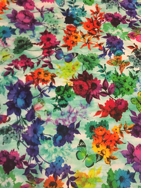 Custom Order - ALL TIME FAVORITE BACK IN LIMITED QUANTITY! - Garden of Color - Quilter's Cotton