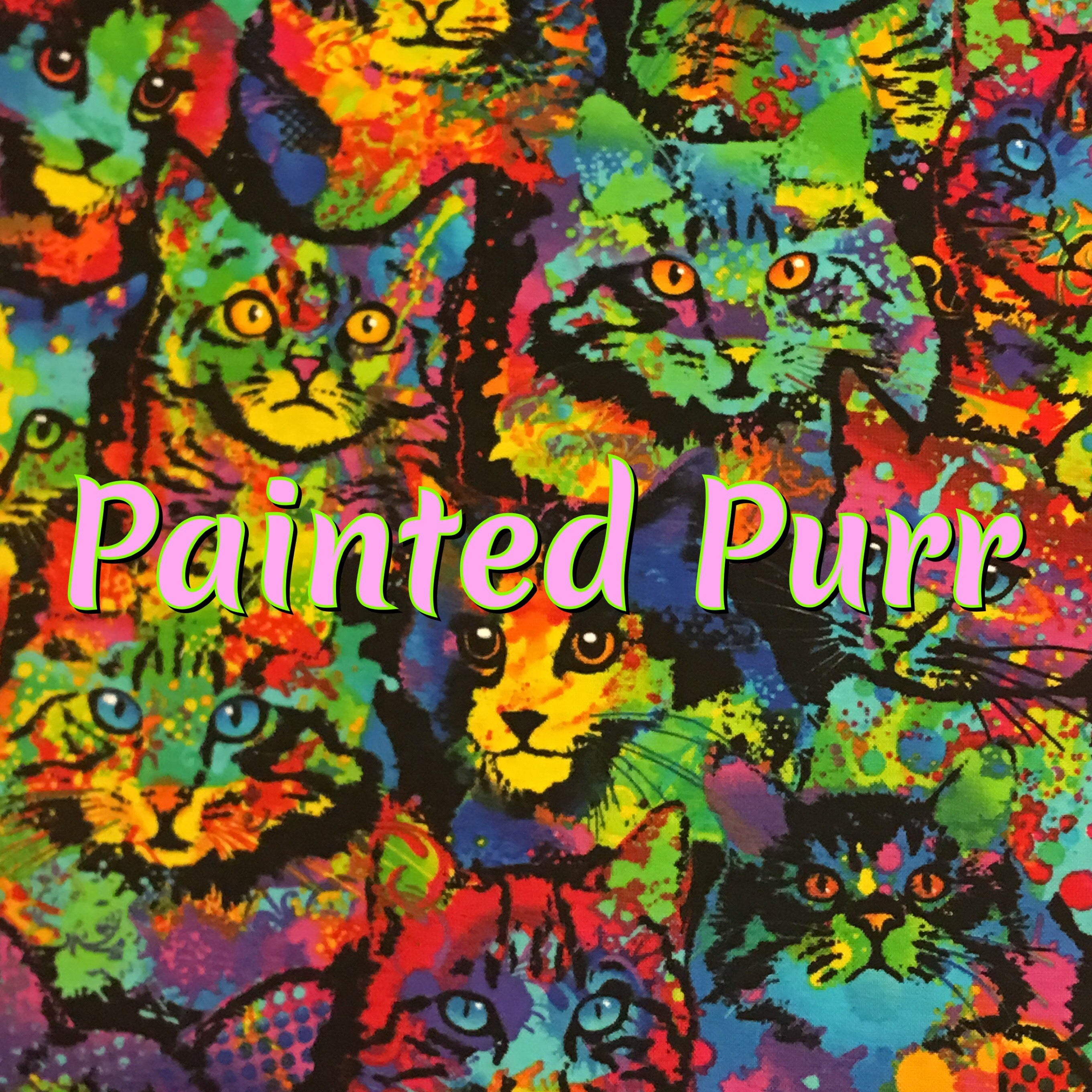 Painted Purr - Specialty Quilter's Cotton