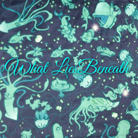 Custom Order - Specialty Minky - What Lies Beneath