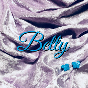 LIMITED EDITION! Luxury Crushed Velvet - Betty - Featuring a Teal Butterfly Top Snap and Ivory Windpro Fleece Back!