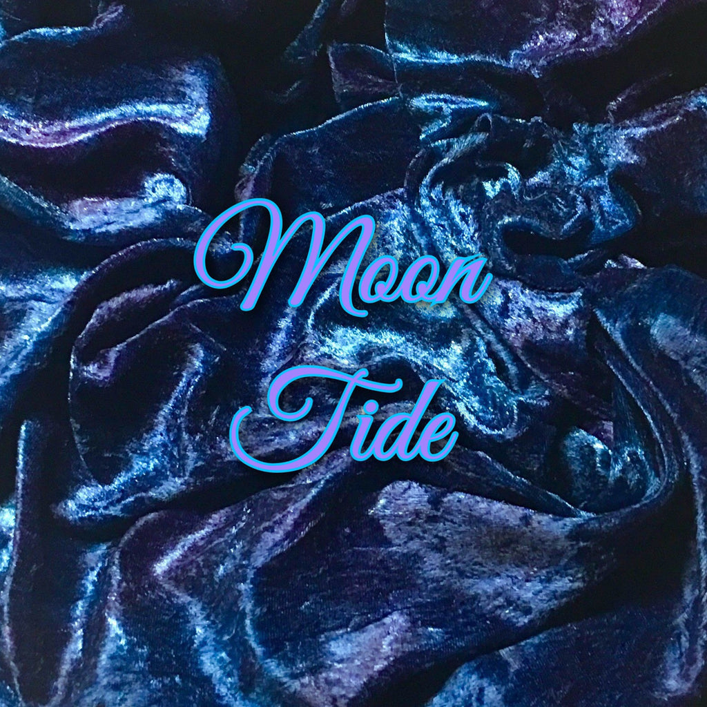 NOW AVAILABLE for Custom Order!!!- Luxury Crushed Velvet - Moon Tide