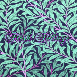 Limited Edition! Fresh Foliage - Quilter's Cotton - Featuring Teal Windpro Back & Flower Snap!
