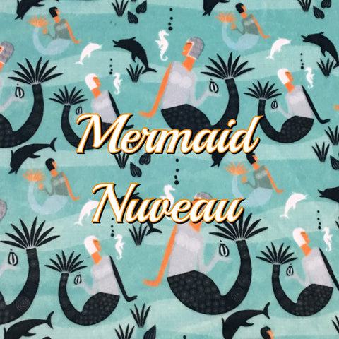 Custom Order - Mermaid Nouveau - Specialty Minky Print