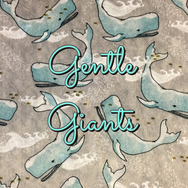 Custom Order - Gentle Giants - Specialty Minky Print