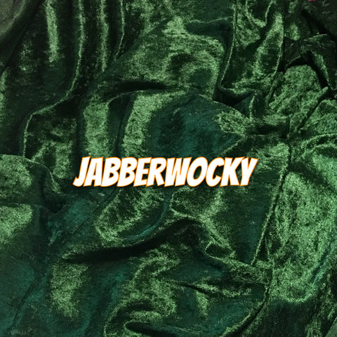 Custom Order - Luxury Crushed Velvet - Jabberwocky