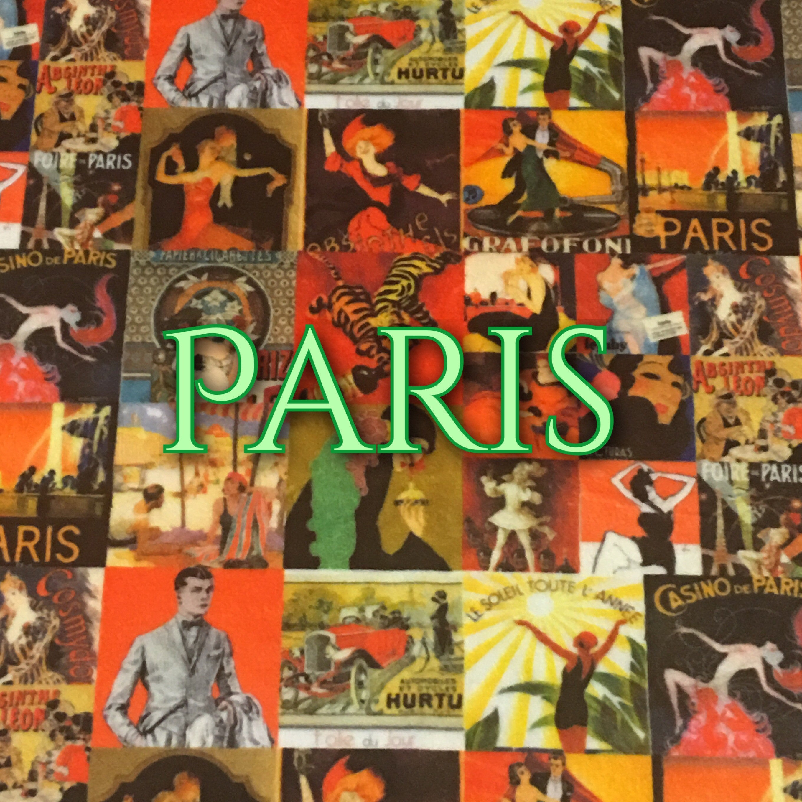 Paris - Specialty Minky Print