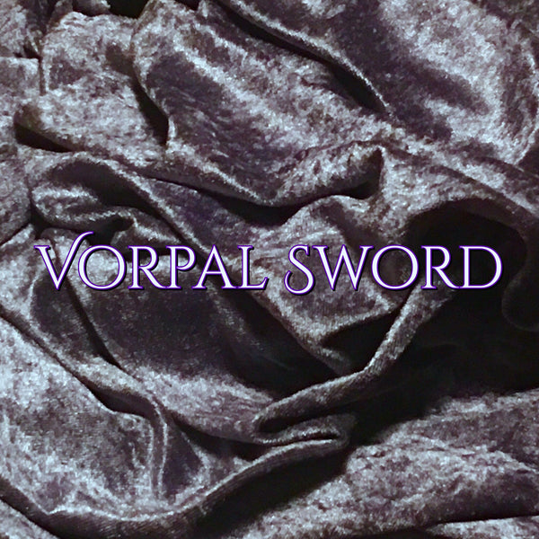 Custom Order - Luxury Crushed Velvet - Vorpal Sword