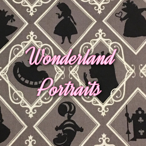 Custom Order - Wonderland Portraits - Quilter's Cotton