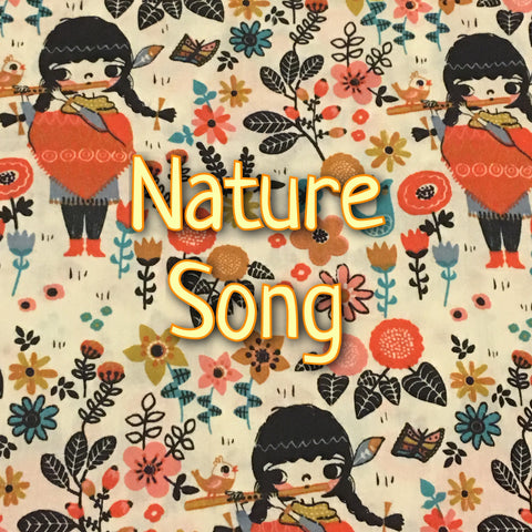 Custom Order - Nature Song - Organic Quilter's Cotton