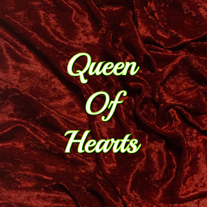 Queen of Hearts! Featuring a Black Heart Top Snap! - Luxury Crushed Velvet