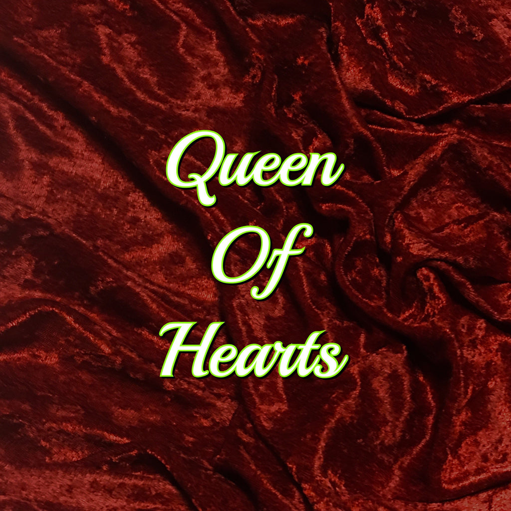 Queen - Luxury Crushed Velvet Featuring Black Backing and Black Heart Snap