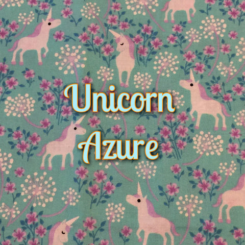 Custom Order - Unicorn Azure - Quilter's Cotton