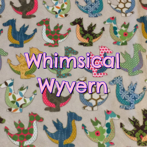Custom Order - Specialty Minky Print - Whimsical Wyvern
