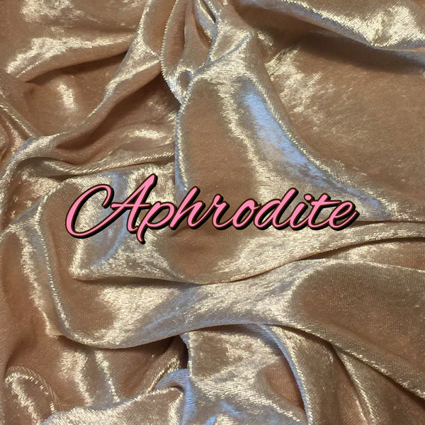 BRAND NEW COLOR! Custom Order - Luxury Crushed Velvet - Aphrodite